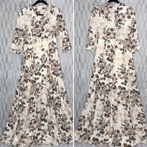 NEW Altar'd State Floral Button Down Maxi Dress